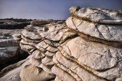 Gouverneurstrand mit weißen Felsen, Zypern stockfoto