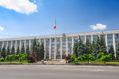 Gouvernment Building in Chisinau, Republic of Moldova Royalty Free Stock Photography