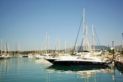 Gouvia Marina, Corfu, Grecja Zdjęcia Royalty Free