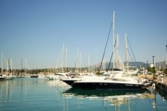 Gouvia Marina, Corfu, Greece Royalty Free Stock Photos