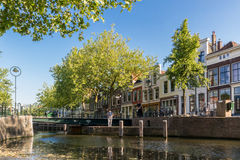 Gouwe canal in Gouda, Holland Stock Photo