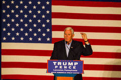 Gov Mike Pence at GOP Rally royalty free stock photo
