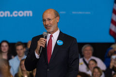 Gov Tom Wolf Offers Remarks at Hillary Clinton Rally Royalty Free Stock Image