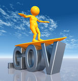 GOV Top Level Domain. A computer generated 3D illustration stock illustration