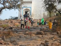 Goverdhan Mountain Tample  Main Gate Tample stock photos