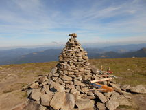 Goverla - la montaña más alta y el pico más alto en el territorio de Ucrania Fotos de archivo libres de regalías