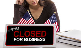 Goverment Shutdown Royalty Free Stock Photo