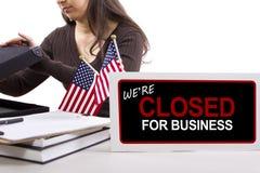 Goverment Shutdown Royalty Free Stock Photo
