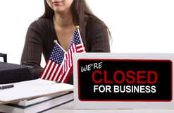 Goverment Shutdown Royalty Free Stock Photography