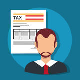 Goverment taxes payday Stock Image