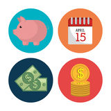 Goverment taxes payday Stock Photos
