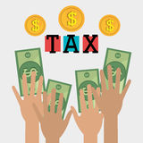 Goverment taxes payment Royalty Free Stock Images