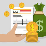 Goverment taxes payment Royalty Free Stock Photo