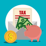 Goverment taxes payment Royalty Free Stock Photos
