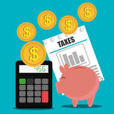 Goverment taxes payment Stock Photography