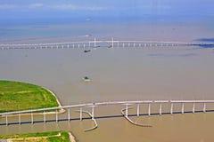 Governador Nobre De Carvalho Bridge And Amizade Bridge, Macao, Chine Images libres de droits