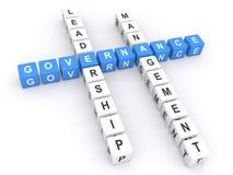 Governance Crossword Royalty Free Stock Photography