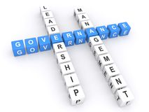 Governance crossword Royalty Free Stock Photography