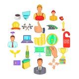 Governance icons set, cartoon style. Governance icons set. Cartoon set of 25 governance vector icons for web isolated on white background Royalty Free Stock Image