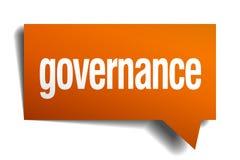 Governance orange speech bubble. Isolated on white Royalty Free Stock Images