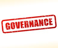 Governance text stamp. Illustration of governance text stamp Royalty Free Stock Images