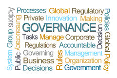 Governance Word Cloud Royalty Free Stock Image