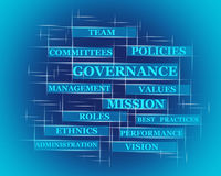 Governance word concept Royalty Free Stock Image