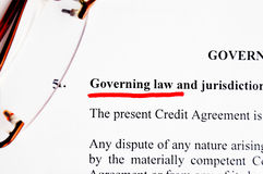Governing law. On white paper concept Royalty Free Stock Photo