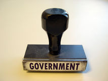 Government. Rubber stams that reads GOVERNMENT stock photo
