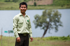 Government Administration Official in Chin State, Myanmar Stock Images