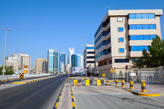 Government avenue. Street view of Manama city Stock Image