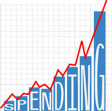 Government big spending deficit chart Royalty Free Stock Images