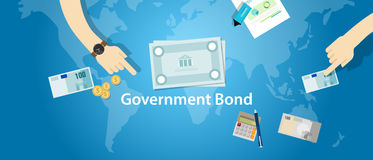 Government bond investment money financial fund. Vector Royalty Free Stock Photos