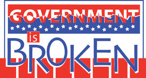 Government Is Broken Stock Images