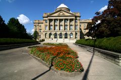 Government Building. An exterior view of an American courthouse Stock Image