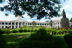 Government building. View of traditional official building in kerala royalty free stock photos