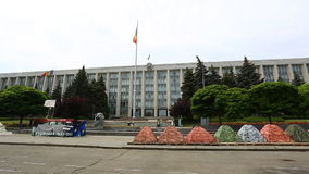 Government building in Chisinau - Moldova stock footage