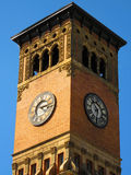 Government Building Clock Tower Stock Photo