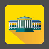 Government building with columns icon Royalty Free Stock Photo