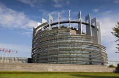 Government building of the European Union in Strasbourg Stock Photo