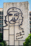 Government building in Havana  with a famous Che Guevara image Stock Images