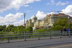 The Government building and Hotel Bellevue Palace Royalty Free Stock Images