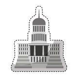 Government building isolated icon Stock Photography