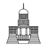 Government building isolated icon Royalty Free Stock Images
