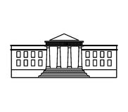 Government building isolated icon Royalty Free Stock Photography