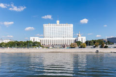 """Government building of Russia. Facade view from the river to the government building of Russia ( """"The Russian White House royalty free stock photography"""