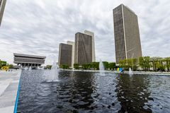 Government Buildings in Capitol Hill in Albany, New York.  Royalty Free Stock Image