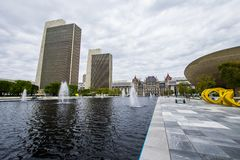 Government Buildings in Capitol Hill in Albany, New York.  Stock Image
