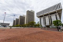 Government Buildings in Capitol Hill in Albany, New York.  Stock Photos