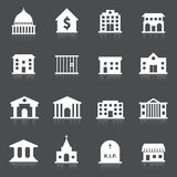 Government buildings icons Royalty Free Stock Photos